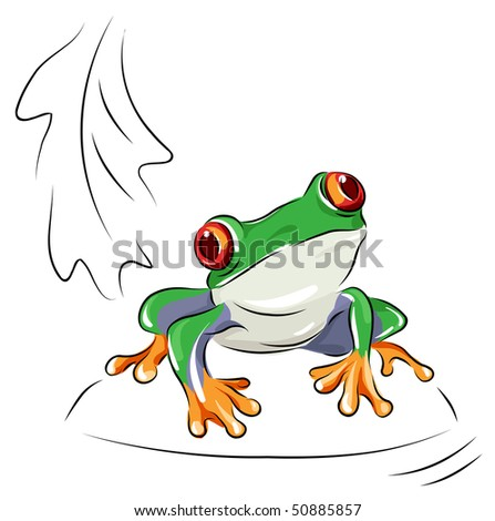 tree frog   vector cartoon