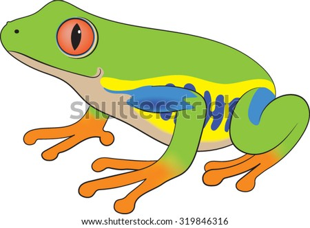 free cartoon green tree frog vector download free vector art rh vecteezy com
