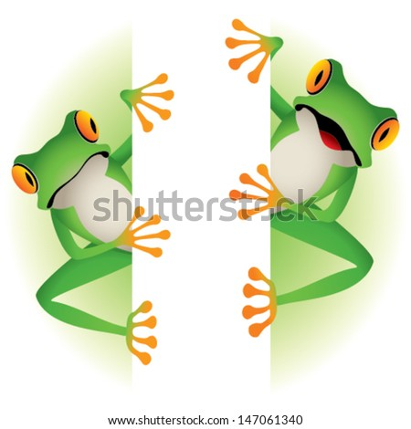 Tree frogs on border