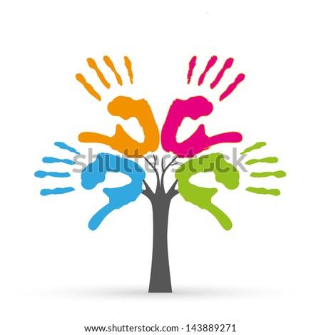 tree hands illustration