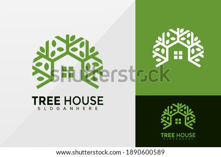 Tree House business logo vector, Brand Identity Logos design, modern logo, Logo Designs Vector Illustration Template