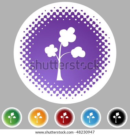 Tree icon isolated web icon on a background. - stock vector