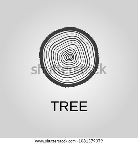 Tree icon. Tree symbol. Flat design. Stock - Vector illustration