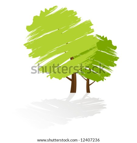 Tree icon with reflection