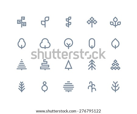 tree icons line series