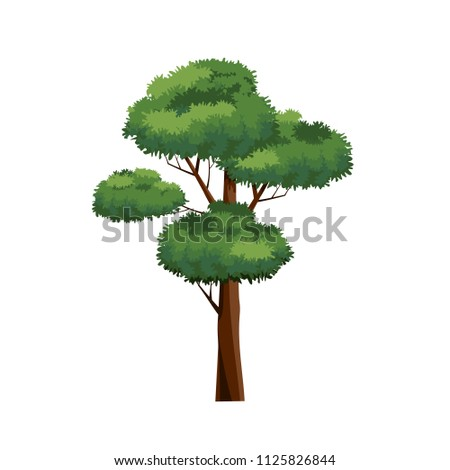 Tree icons vector.