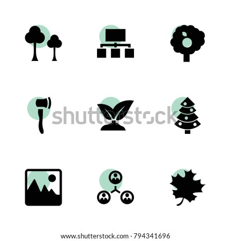 tree icons vector collection