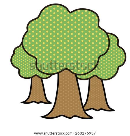 tree in a pop art style