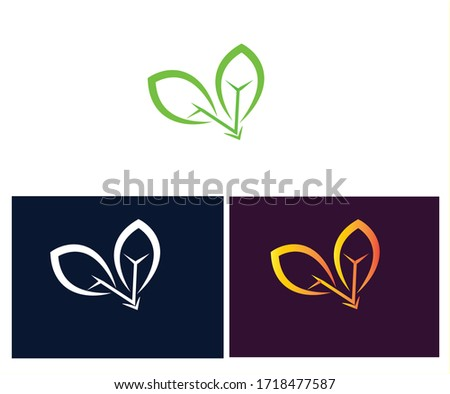 tree leaf logo design with