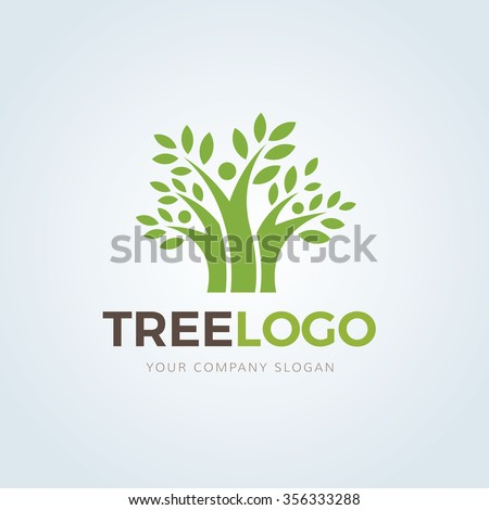 Tree Logo,Family logo,Eco logo,Green Logo,Vector Logo Template