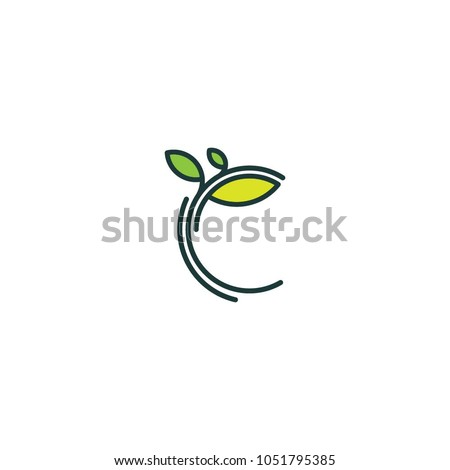 Tree logo, vector logo template