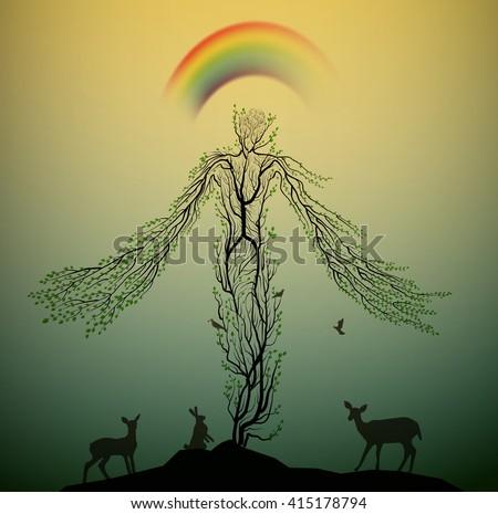 tree looks like with animals