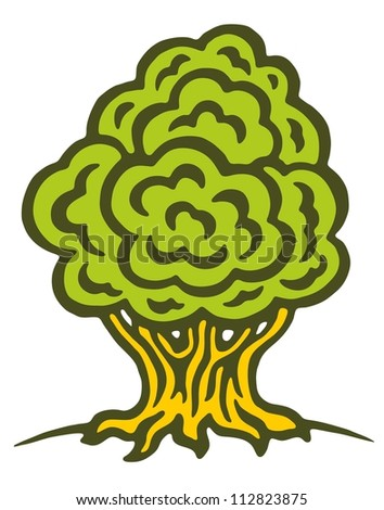 tree oak wood drawing sketch illustration vector
