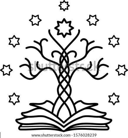 tree of gondor  line art icon