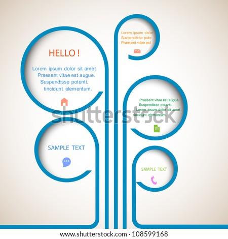 Tree of web design bubbles. Vector design template