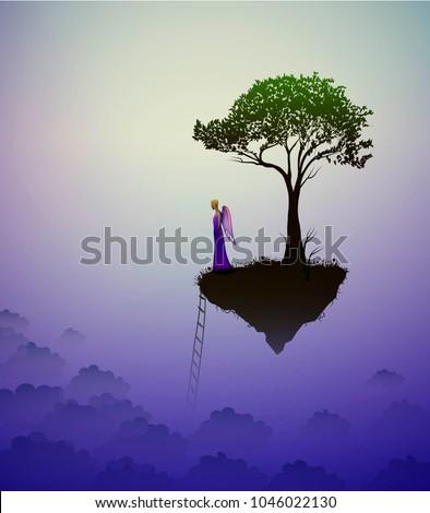 tree on heavens   fairy angel