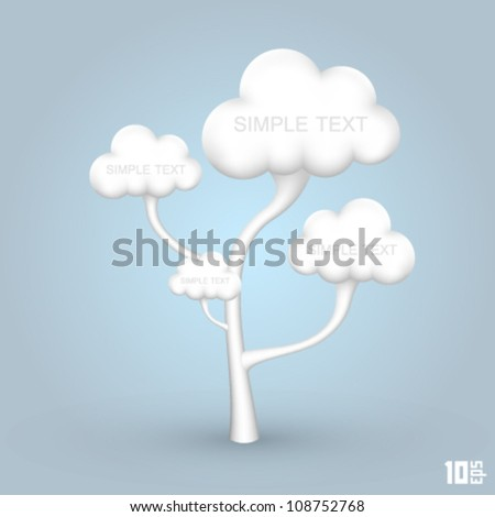 tree out of the clouds