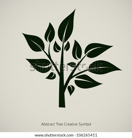 tree plant vector illustration
