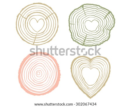 tree rings illustration set