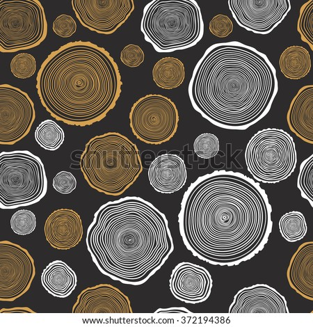 tree rings seamless vector