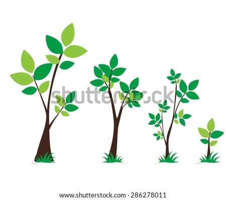 tree set on white background