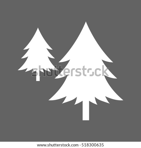 tree snow icon vector