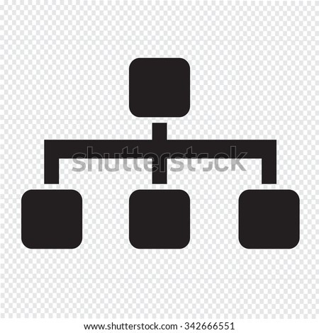 Tree Structure Icon Illustration
