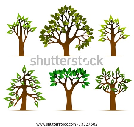 tree vector design, nature plants with green leafs