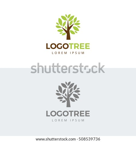 tree vector icon logo design