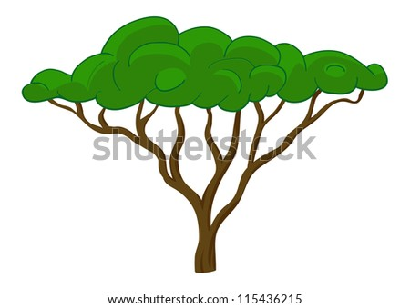 Tree vector illustration. Isolated on white