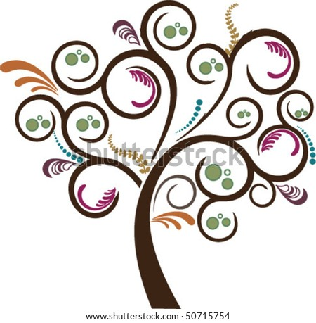 tree with stylized leaves