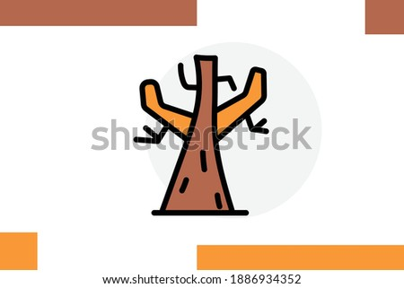 tree without leaf icon for
