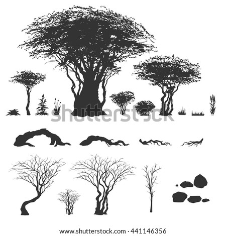 trees and other nature elements