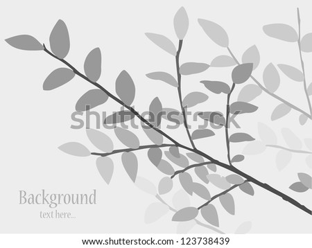trees background, vector