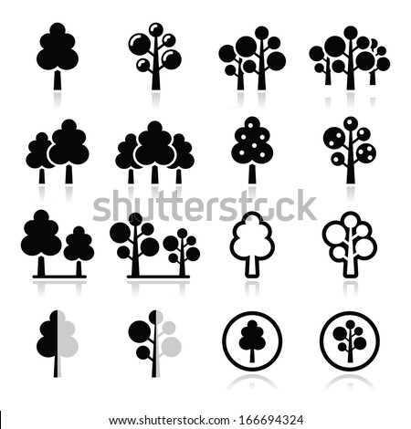 trees  forest  park vector