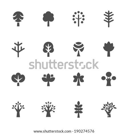 Trees icon set ストックフォト ©