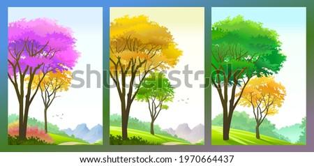 trees in the season of autumn