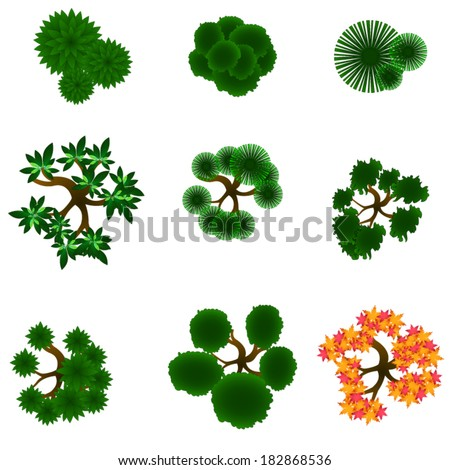 29 excellent landscape garden vector for Landscape design icons