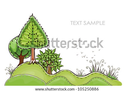 trees on the hills  HAPPY WORLD COLLECTION