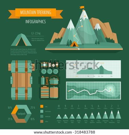 trekking  climbing and hiking