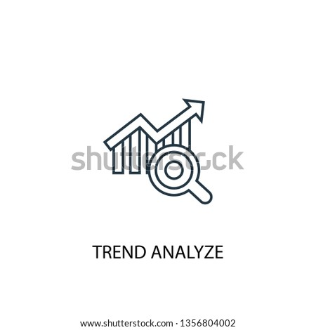 trend analyze concept line icon. Simple element illustration. trend analyze concept outline symbol design. Can be used for web and mobile UI/UX