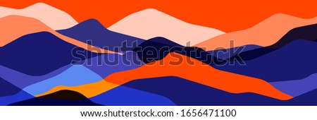 trend color mountains
