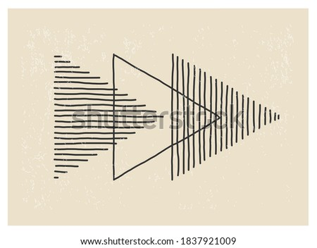 Trendy abstract creative minimalist artistic hand drawn composition ideal for wall decoration, as poster or brochure design, vector illustration