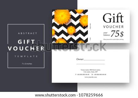 Gift Voucher Coupon Vector Template Download Free Vector Art