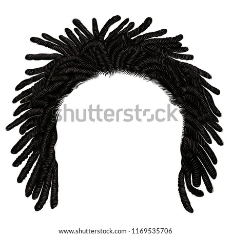 trendy african long  hair