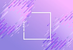 Trendy background template with vibrant glitched gradient purple blue violet colors and abstract shapes flow. Vector modern poster, banner, presentation layout, minimal style corporate identity