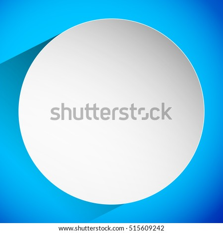 Trendy background with blank circle badge casting shadow