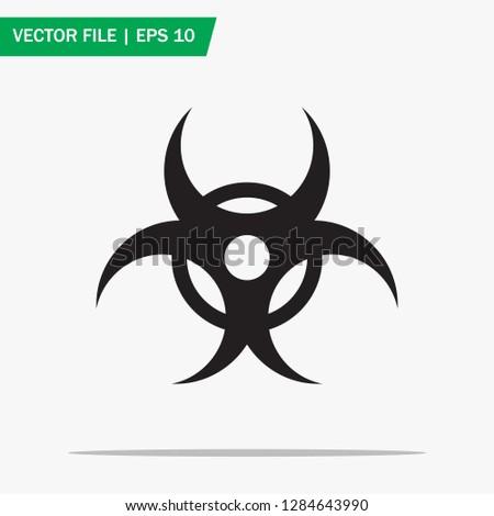 Trendy bio hazard icon in flat style isolated on grey background. Biological hazard symbol. Vector illustration. Eps10. #1284643990
