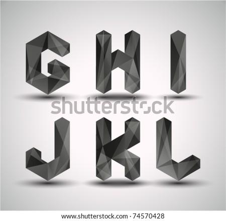 trendy black fractal geometric