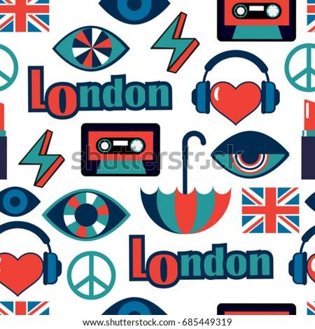 trendy british vector pattern